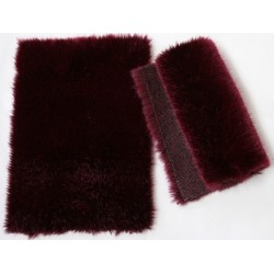 Eco Medium length bordeaux fox