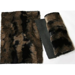 Eco Shaved Fur brown/black