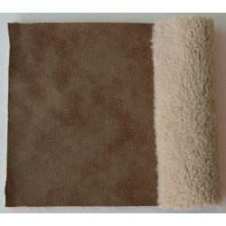 Eco sheepskin hammered 08 camel
