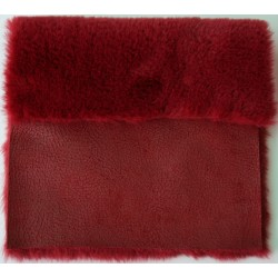 Eco sheepskin hammered red