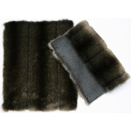 Eco mink grey/black